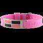 Титановый браслет с турмалиновыми пластинами — Розовый