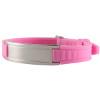 розовый женский браслет с турмалином и германием в подарок