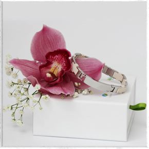 серебряный женский магнитный браслет