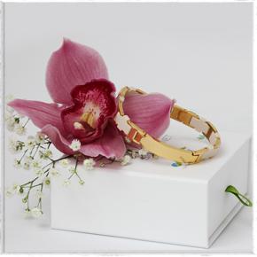 золотой магнитный браслет для женщин со скидкой